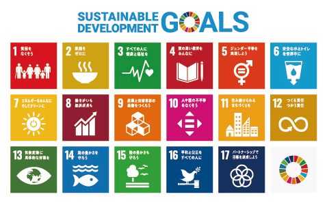 SUSTAINABLE DEVEROPMENT GOALS イメージ図